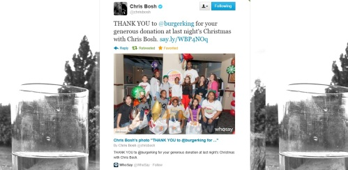 christmas with chris bosh twitter